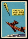 1957 Topps Isolation Booth #83   World's Highest Flying Balloon Front Thumbnail
