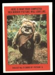 1983 Topps Star Wars Return of the Jedi Stickers #11  Han Solo  Back Thumbnail
