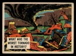 1957 Topps Isolation Booth #37   Worst Tornado in History Front Thumbnail