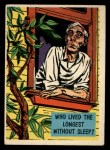 1957 Topps Isolation Booth #63   Who Lived the Longest Without Sleep Front Thumbnail