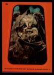 1983 Topps Star Wars Return of the Jedi Stickers #26  The Ewok  Front Thumbnail