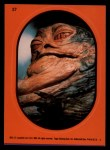 1983 Topps Star Wars Return of the Jedi Stickers #27  Jabba the Hutt  Front Thumbnail