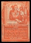 1957 Topps Isolation Booth #17   World's Coldest Place Back Thumbnail
