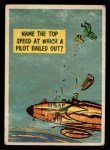 1957 Topps Isolation Booth #42   Top Speed at which Pilot Bailed Out Front Thumbnail