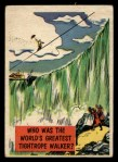 1957 Topps Isolation Booth #52   World's Greatest Tightrope Walker Front Thumbnail