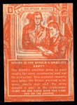 1957 Topps Isolation Booth #8   World's Smallest Army Back Thumbnail