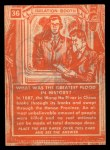 1957 Topps Isolation Booth #36   Greatest Flood in History Back Thumbnail