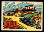 1957 Topps Isolation Booth #82   World's Fastest Train Front Thumbnail