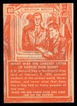 1957 Topps Isolation Booth #80   Largest Litter of Puppies Back Thumbnail