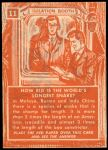 1957 Topps Isolation Booth #11   World's Largest Snake Back Thumbnail