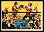 1957 Topps Isolation Booth #66   World's Longest Title Fight Front Thumbnail
