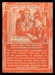 1957 Topps Isolation Booth #35   World's Worst Catastrophe Back Thumbnail