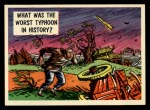 1957 Topps Isolation Booth #38   Worst Typhoon in History Front Thumbnail