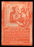1957 Topps Isolation Booth #46   Deepest Penetration into the Ocean Back Thumbnail