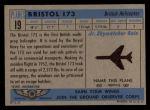 1957 Topps Planes #19 BLU  Bristol 173 Back Thumbnail