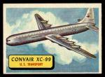 1957 Topps Planes #54 BLU  Convair Xc-99 Front Thumbnail