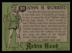 1957 Topps Robin Hood #51   John Is Worried Back Thumbnail