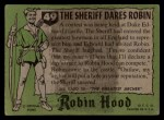 1957 Topps Robin Hood #49   The Sheriff Dares Robin Back Thumbnail