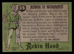 1957 Topps Robin Hood #35   Robin Is Wounded Back Thumbnail