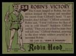 1957 Topps Robin Hood #34   Robin's Victory Back Thumbnail
