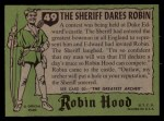 1957 Topps Robin Hood #49   The Sheriff Dares Robin Back Thumbnail