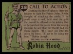 1957 Topps Robin Hood #28   Call To Action Back Thumbnail