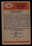 1955 Bowman #55  Joe Heap  Back Thumbnail