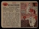 1957 Topps #92  Ernie Stautner  Back Thumbnail