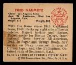 1950 Bowman #85  Fred Naumetz  Back Thumbnail