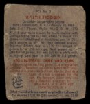 1949 Bowman Pacific Coast League #3  Ralph Hodgin  Back Thumbnail