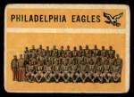 1960 Topps #92   Eagles Team Checklist Front Thumbnail