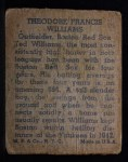 1943 M.P. and Co #18  Ted Williams  Back Thumbnail