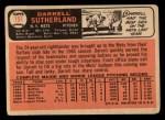 1966 Topps #191  Darrell Sutherland  Back Thumbnail