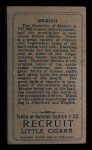 1911 Recruit T113 Types of Nations #28   Mexico Back Thumbnail