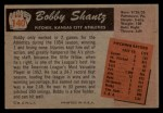 1955 Bowman #140  Bobby Shantz  Back Thumbnail