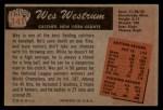 1955 Bowman #141  Wes Westrum  Back Thumbnail