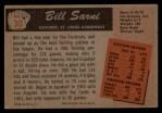 1955 Bowman #30  Bill Sarni  Back Thumbnail