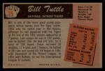 1955 Bowman #35  Bill Tuttle  Back Thumbnail