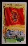 1911 Flags of All Nations T59 #127 REC  Spain Royal Standard Front Thumbnail