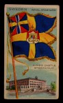 1911 Flags of All Nations T59 #131 JAC  Sweden Royal Standard Front Thumbnail