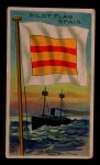 1911 Flags of All Nations T59 #162 SR  Spain Pilot Flag Front Thumbnail