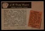 1955 Bowman #297  Dusty Boggess  Back Thumbnail