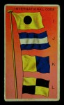 1911 Flags of All Nations T59 #196 BR  International Code I J K L Front Thumbnail