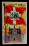 1911 Flags of All Nations T59 #35 SC  Denmark Royal Standard Front Thumbnail