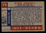 1957 Topps Hit Stars #79  Pier Angeli   Back Thumbnail