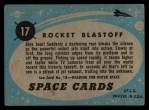 1957 Topps Space Cards #17   Rocket Blastoff Back Thumbnail