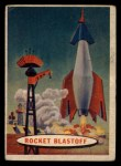 1957 Topps Space Cards #17   Rocket Blastoff Front Thumbnail