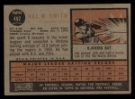 1962 Topps #492  Hal W. Smith  Back Thumbnail