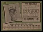 1971 Topps #452  John Boccabella  Back Thumbnail