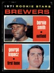 1971 Topps #204   -  George Kopacz / Bernie Smith Brewers Rookies Front Thumbnail